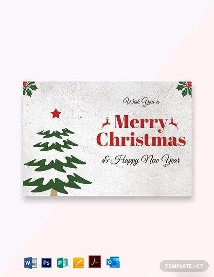 Christmas Holiday Greeting Card Template Free Jpg Word Outlook Apple Pages Psd Pdf Publisher Template Net Christmas Greeting Card Template Christmas Note Cards Greeting Card Template