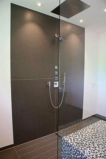 Zu Beiden Seiten Offene Walk In Dusche Bodeneben Sitzblock Mit
