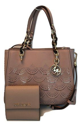 480082e62156 Michael Kors Sofia Md Bundled with Wallet Fawn Leather Satchel ...