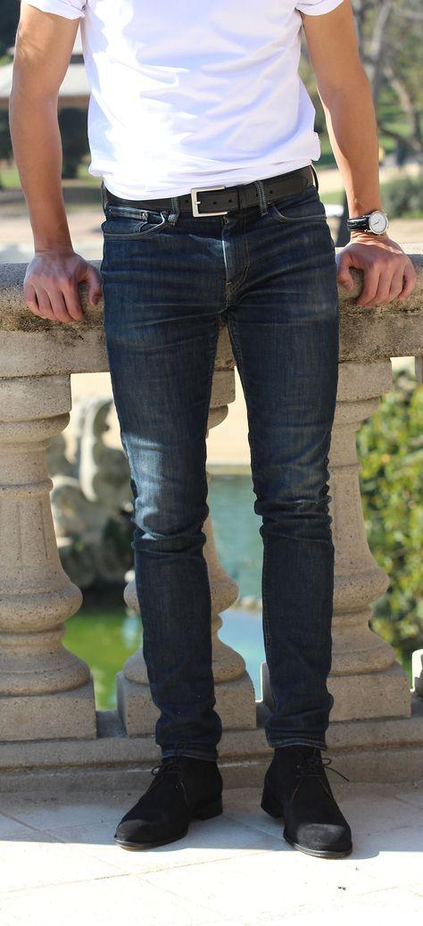 ea3d43028f90 Jules   Jenn - Les Desert Boots cuir daim noir   la ceinture cuir noir   fashion  mode  durable  boots  men • www.julesjenn.com