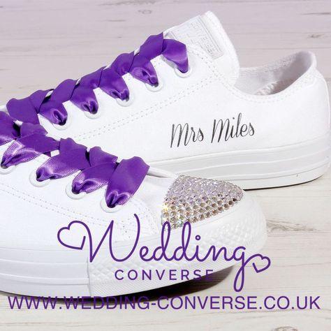 Lilac Purple Bride Converse Custom