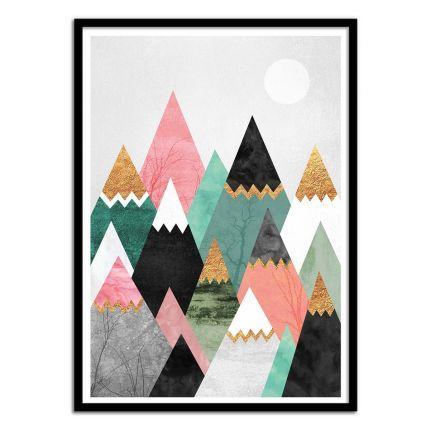Affiche Pretty Mountains | Chalet Moderne, Deco Murale Et Murale