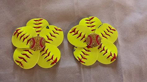 50c1fe27516d1 Softball Hair Clip and Flip Flop Clips by NykolesBoutique on Etsy