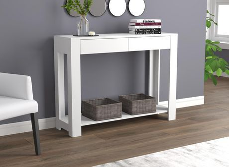 Safdie Co Console Table 40 White With 2 Drawers White White Console Table Furniture Console Table Canada