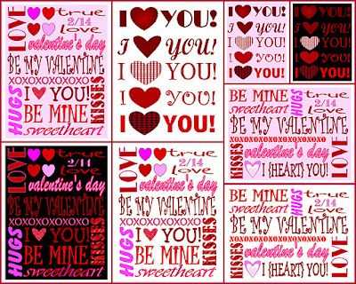 Free Valentine's Day Printable Subway Art (available in different designs & colors)