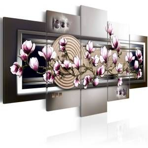 wandbild magnolia and zen garden gunstig online kaufen bei bettwaren shop in 2021 leinwandbilder wandbilder leinwand bild auf drucken lassen preisvergleich