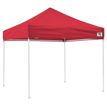 Impact Canopy 10 X 10 Pop Up Canopy Tent Straight Leg Shelter Steel Frame Uv Coated Roller Bag Red Walmart Com In 2020 Beach Canopy Tent Canopy Outdoor Canopy Tent