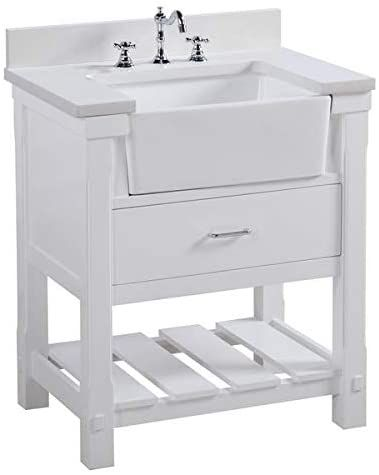 Charlotte 30 Inch Bathroom Vanity Quartz White Includes White Cabinet With Stunning Quartz Co Bathroom Vanity Single Bathroom Vanity 30 Inch Bathroom Vanity