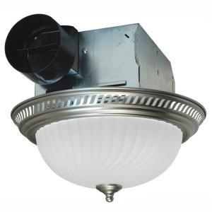 Air King DRLC702 Round Bath Fan with Light Nickel