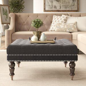 Clausen 93 Recessed Arms Sofa Reviews Birch Lane In 2020 Ottoman Cocktail Ottoman Furniture