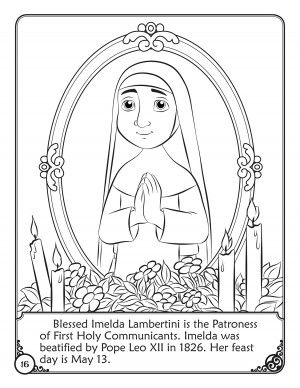 Enjoy A Free Coloring Page In Honor Of The Feast Day Of Blessed