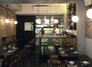 Fei Jai Restaurant Counter In Brass Sheet Tarnish Restaurant Counter Sheet Metal Metal Decor