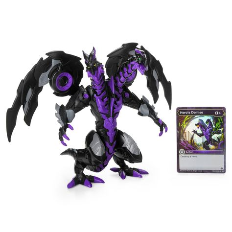 Bakugan Exclusive Deluxe Figure And Card Nillious Figures