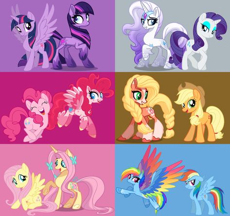 This is what the ponys would look like if they were older Arte My Little Pony, Dessin My Little Pony, My Little Pony Comic, My Little Pony Drawing, My Little Pony Pictures, Mlp My Little Pony, My Little Pony Friendship, My Little Pony Equestria, Equestria Girls