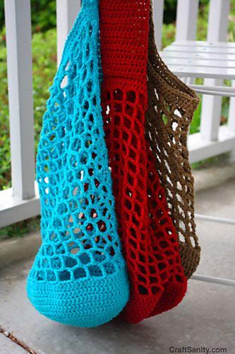 Round Bottom Mesh Market Bag pattern by Jennifer Ackerman-Haywood