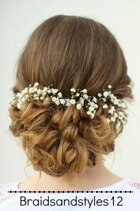 Emma Watson Inspired Belle Updo Hairstyle From Beauty And The Beast A Curly Messy Updo Perfect For A Belle Hairstyle Hair Styles Curly Hair Styles Naturally