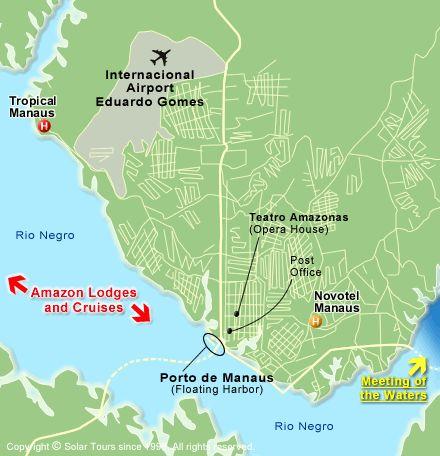 Manaus Map Tourist Attractions picks Pinterest Manaus