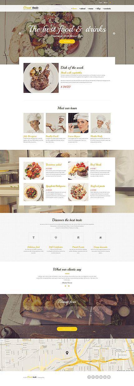 Thèmes Drupal, webdesign templates graphiques Alimentation et Boissons. Chartes graphiques à télécharger sur Templarts.com