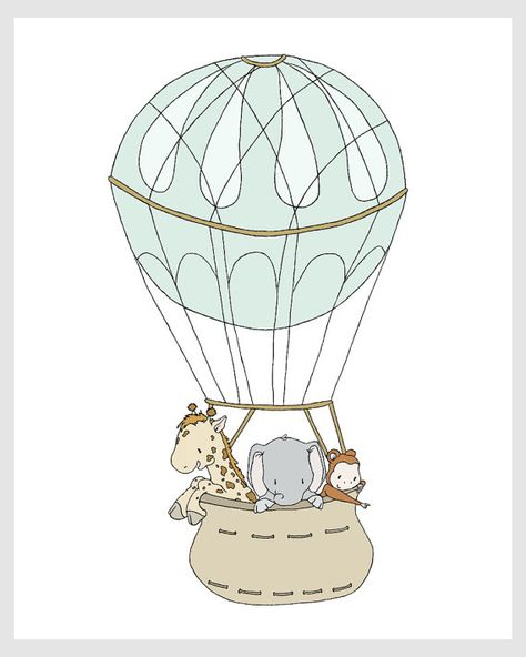Safari Nursery Art : You can CUSTOMIZE this print to any colors you choose, either from the color chart or a picture or link, just let me