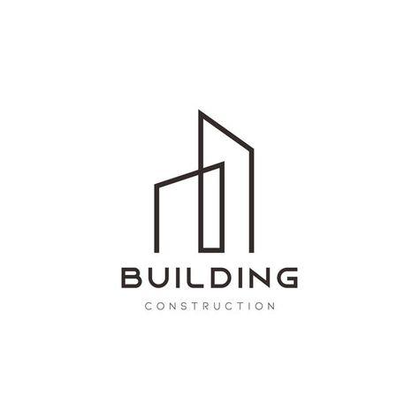 Edificio Casa Resumen Línea Arte Minimalista Vector Logo Icono Diseño De Plantilla Con Estilo De Apartamento Creativo