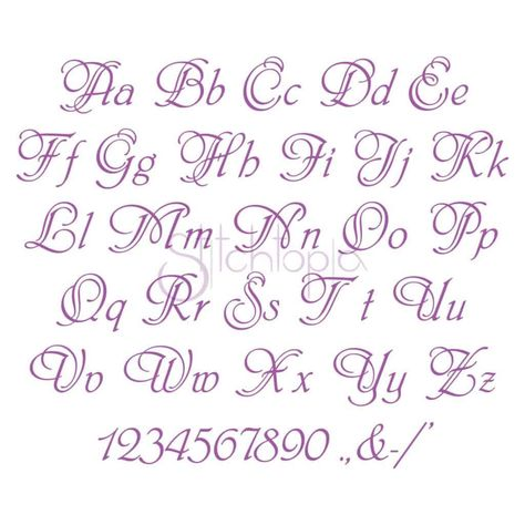 Stitchtopia Paris Embroidery Font Set- All Letters Numbers Punctuation