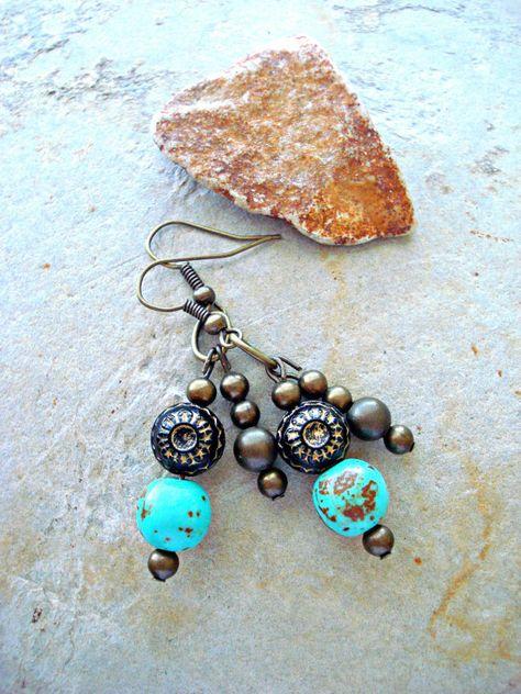 Boho Earrings  Boho Jewellery  Yoga Earrings  by HandcraftedYoga, $24.00