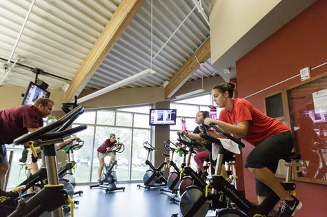 Need a good sweat? #Alvernia's #fitness center offers classes to students such as spin, yoga, zumba and bootcamps!