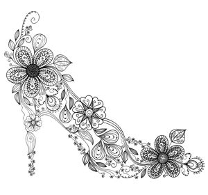 Coloring Pages For Adults Shoes - Coloring Page