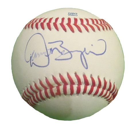 Atlanta Braves Damon Berryhill signed Rawlings ROLB leather Baseball w/ proof photo.  Proof photo of Damon signing will be included with your purchase along with a COA issued from Southwestconnection-Memorabilia, guaranteeing the item to pass authentication services from PSA/DNA or JSA. Free USPS shipping. www.AutographedwithProof.com is your one stop for autographed collectibles from Atlanta sports teams. Check back with us often, as we are always obtaining new items.