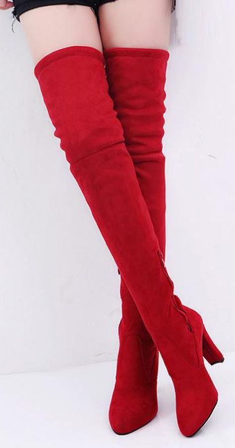 bb4bb7c61d3 These are the perfect high heel over the knee boots to complete any women s  ...