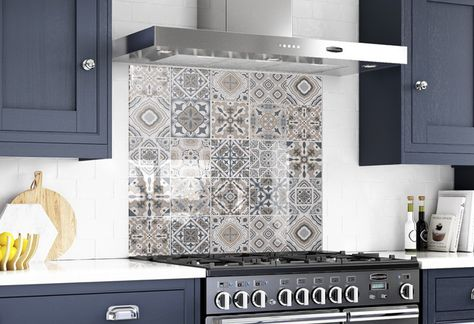 Glass Tile Kitchen Backsplash Behind the Stove Decor Solid image 0