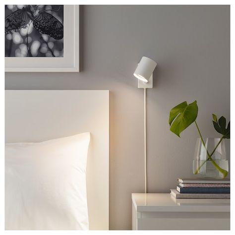 Nymane Vaeg Laeselampe Hvid Ikea Ikea Wall Lights Wall Lamps Bedroom Wall Lights Bedroom