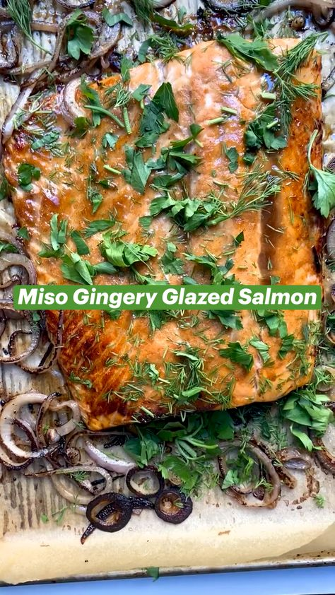 Miso Gingery Glazed Salmon