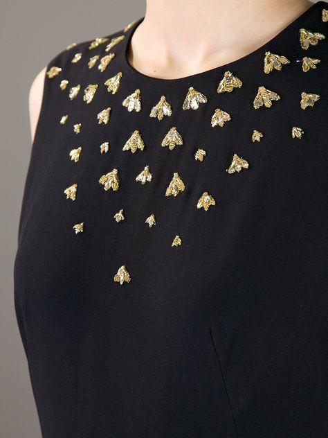 Alexander Mcqueen Bee Embellished Dress -