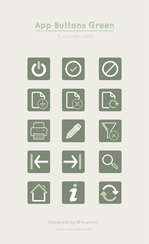 App Buttons Green Iphone Design App Icon Design App