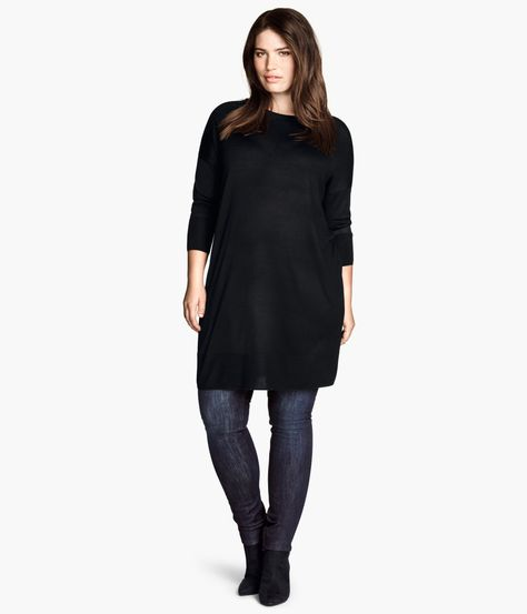 H&M+ Fine-knit Tunic | Product Detail | H&M
