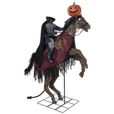 Animatronics Halloween Decorations The Home Depot In 2021 Headless Horseman Horseman Halloween Props