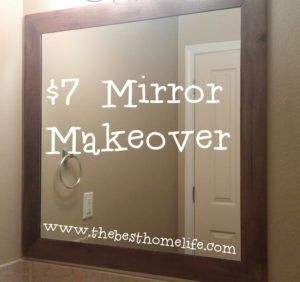 7 Mirror Makeover Bathroom Mirror Makeover Bathroom Mirror Frame Bathroom Mirrors Diy