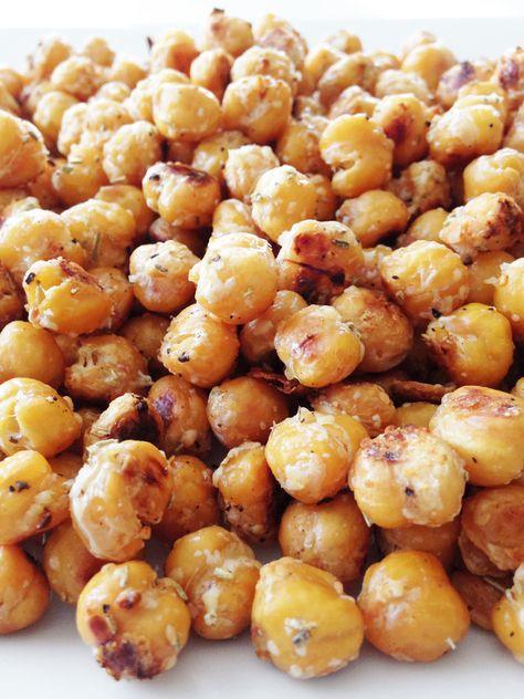 Garlicky Parmesan & Rosemary Roasted Chickpeas