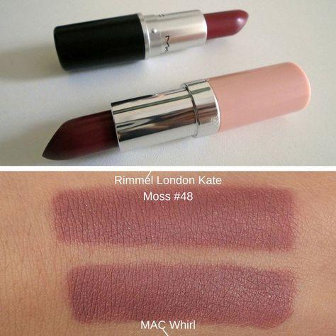 Lipstick Dupes MAC Whirl ang Rimmel London Lasting Finish by Kate Mac Lipstick Dupes, Mac Dupes, Lipstick For Fair Skin, Lipstick Art, Lipstick Swatches, Liquid Lipstick, Brown Lipstick, Top Mac Lipsticks, Lipsticks