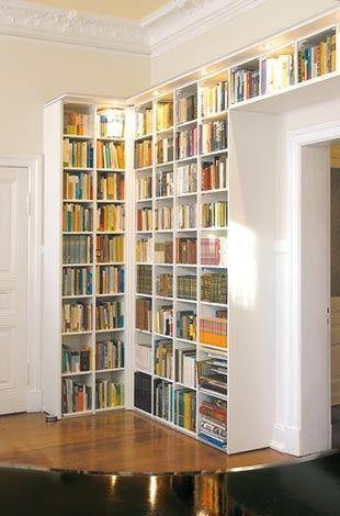 I Want Bookshelves Like This Corner Bookshelves Corner