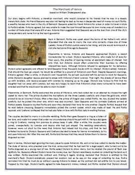 Thi Reading Comprehension Worksheet I Suitable For Upper Intermediate To Profic The Merchant Of Venice Paraphrase Pdf Download