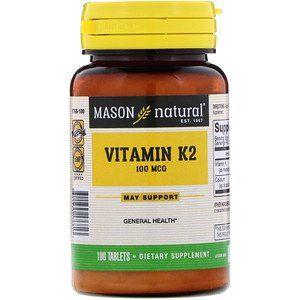 Mason Natural Vitamin K2 100 Mcg 100 Tablets