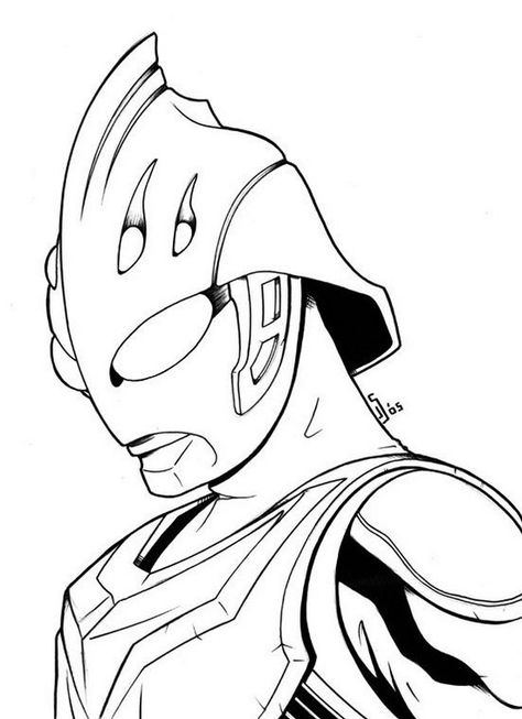 Superhero Ultraman Nexus Coloring Page For Boys Buku Mewarnai