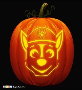 Free Paw Patrol Pumpkin Stencils Paw Patrol Pumpkin Stencil Halloween Stencils Pumpkin Stencil