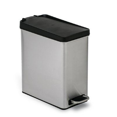 Simplehuman Trash Cans Wastebasket Cw1180int 10 Liter Brushed Stainless Steel Indoor Garbage Can Brushed Stainless Steel Kitchen Garbage Bags Kitchen Waste