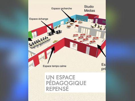Plan 3D du0027une salle de classe de collège, de lycée, ou d - logiciel amenagement exterieur d gratuit en francais