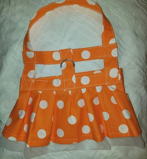 Polka Dot Dog Harness Dress   Etsy