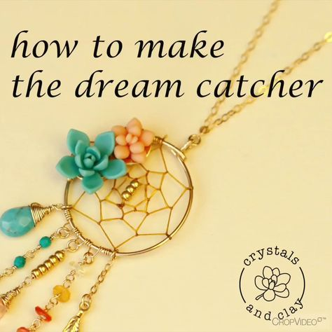 this video shows you how to make a mini dream catcher. #diy #dreamcatcher #diyjewelry #jewelrymaking