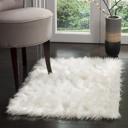Safavieh Faux Sheep Skin Vesna Solid Plush Area Rug Or Runner Size